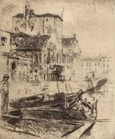 Robert Frederick Blum~Barge on Venetian Canal