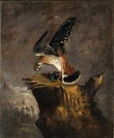 Robert S. Duncanson~Vulture and Its Prey