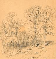 Samuel Colman~Landscape Sketch with a Hilly Countr