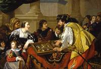 Theodoor Rombouts~The Backgammon Players