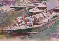 Theodore Robinson~Two in a Boat