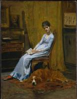 Thomas Eakins~The Artist's Wife and His Setter Dog