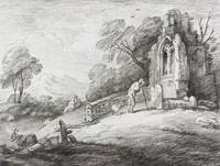 Thomas Gainsborough~A Churchyard with Ruined Tower