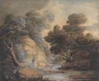 Thomas Gainsborough~Cattle Watering by a Stream