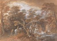 Thomas Gainsborough~Hilly Landscape with Figures A