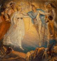 Thomas Stothard~Oberon and Titania from A Midsumme