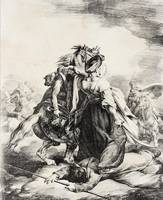 Théodore Géricault~Mameluke Defending an Injured T