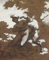 Théodore Géricault~Satyr and Nymph