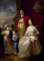 Tilly Kettle~Colonel John Fortnum and Family