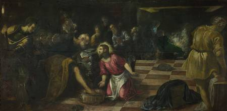 Tintoretto~Christ washing the Feet of the Disciple