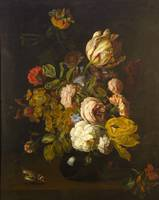 Tobias Stranover~Still-Life with Flowers