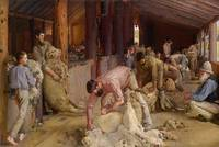 Tom Roberts~Shearing the rams