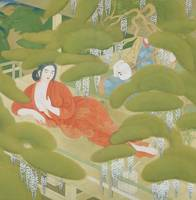 Tsuchida Bakusen~Serving Girl in a Spa -