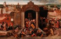 Unknown (follower of Bosch)~Christ Driving the Tra