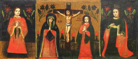 Unknown painter~Saint Stephan; Crucifix with the s