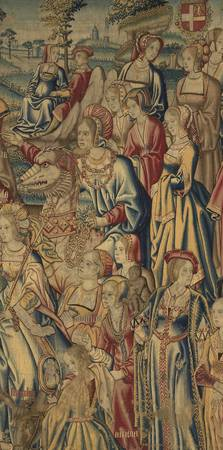 Unknown, Flemish~The Seven Years tapestry fragment