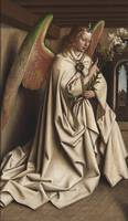 Van Eyck~The Ghent Altarpiece Archangel Gabriel