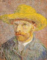 Vincent van Gogh~Self-Portrait with a Straw Hat (o