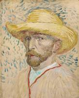 Vincent van Gogh~Self-portrait with straw hat