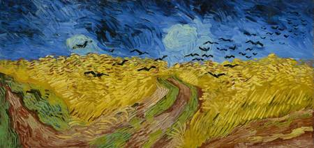 Vincent van Gogh~Wheatfield with crows
