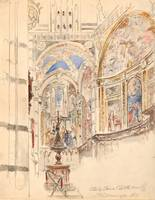 Walter Shirlaw~Study of Siena Cathedral