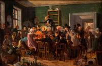 Wilhelm Marstrand~An Auction Scene