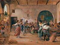 Wilhelm Marstrand~Dancing in an Osteria
