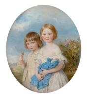 William Charles Ross~Leslie Ward and his sister