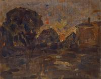 William Forsyth~Landscape Sketch At Twilight