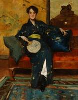 William Merritt Chase~A Comfortable Corner (At Her