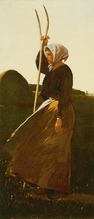 Winslow Homer~Girl with Pitchfork