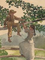 Winslow Homer~On the Fence