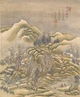 Xue Hui (Chinese)~two landscape album leaves on si