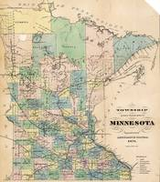 A  J  Reed~Township and railroad map of Minnesota