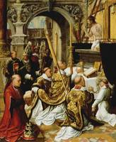 Adriaen Ysenbrandt~The Mass of Saint Gregory the G