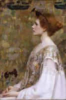 Albert Herter~Woman with Red Hair
