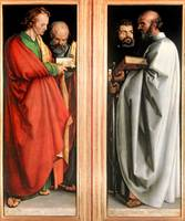 Albrecht Dürer~St  John with St  Peter and St  Pau