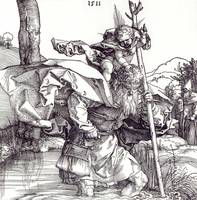 Albrecht Dürer~St Christopher carrying the Infant