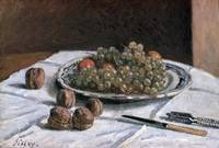 Alfred Sisley~Grapes and Walnuts