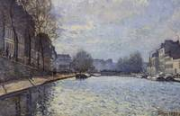Alfred Sisley~View of the Canal Saint-Martin, Pari