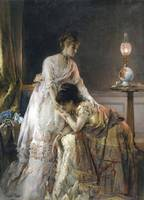 Alfred Stevens~After the Ball, also known as Confi
