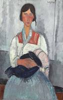 Amedeo Modigliani~Gypsy Woman with Baby