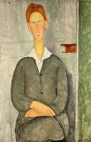 Amedeo Modigliani~Young boy with red hair