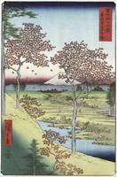 Andō Hiroshige~Sunset Hill, Meguro in the Eastern