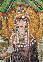 Anonymous~Empress Theodora with her court of two m