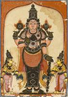 Anonymous~Lord Vishnu with Two Consorts, Sree Devi