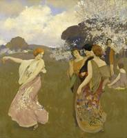 Arthur Frank Mathews~Spring Dance