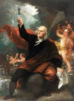 Benjamin West~Benjamin Franklin Drawing Electricit