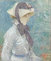 Berthe Morisot~Young Woman with a Straw Hat