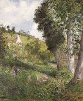 Camille Pissarro~Landscape 'with Cabbage' near Pon